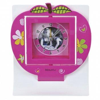 Часы настольные (с будильником) яблоко 14*6*16см. (3вида) (час