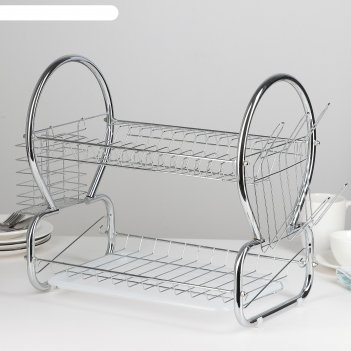 Сушилка для посуды 40х23,5х34 см стойка, 8-образная