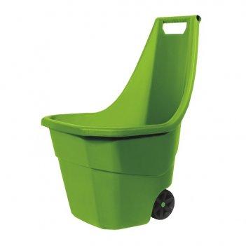 Садовая тележка prosperplast load   go 55л, оливковый