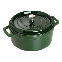 Кокот круглый, объем: 3,8 л, диаметр: 24 см, материал: чугун, цвет: зелены