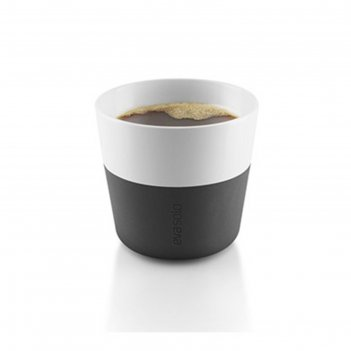 Чашки для лунго 2 шт., 230 мл, чёрные
