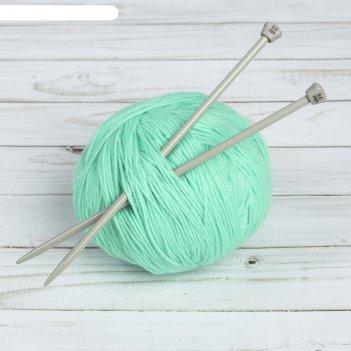 Спицы для вязания, прямые, с тефлоновым покрытием, d = 5 мм, 20 см, 2 шт