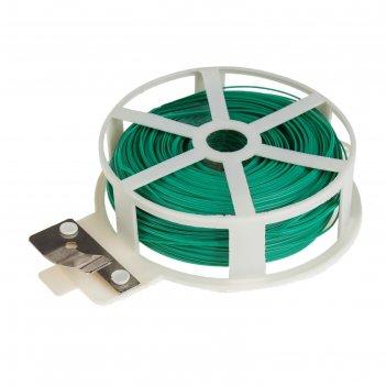 Проволока подвязочная 100 м, зеленая