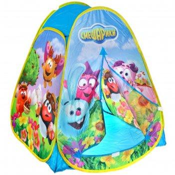 Детская палатка смешарики в сумке 81x91x81см gfa-smesh01-r