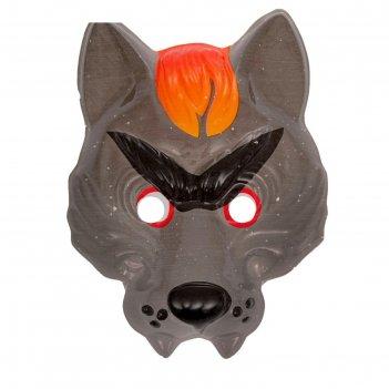 Карнавальная маска серый волк на резинке