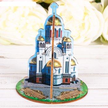 Настольный сувенир 3d «екатеринбург. храм-на-крови»