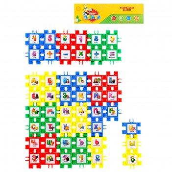Набор-конструктор азбука+счет, 48 деталей, собирается 8 кубиков