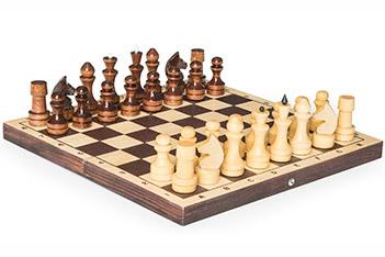 Шахматы обиходные орловские лакированные с доской 29х29см