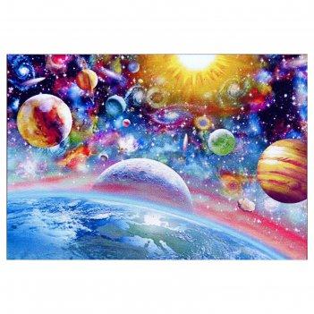 Алмазная мозаика космический микс 45 x 30 см, 37 цветов