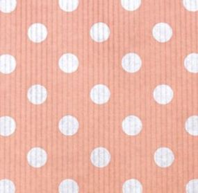 Крафт в рулоне розовый (белый горох) 100см*10м