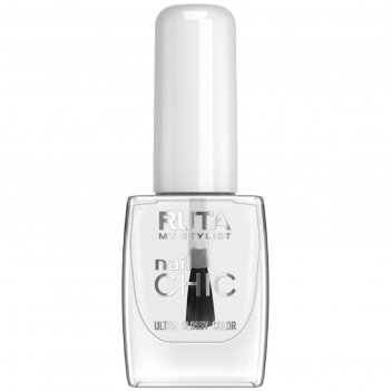 Лак для ногтей ruta nail chic, тон 01, прозрачный
