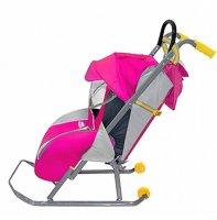Детские санки-коляска ника детям-1 (розовый)