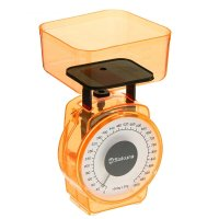 Весы кухонные sa-6018a, 1кг, механические, оранжевые