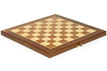 Складной кейс для шахматных фигур woodgame махагон 40мм, 40х40см
