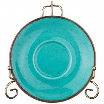 Блюдце для чашки seasons 16 см цвет бирюзовый (кор=24шт.)