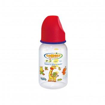 Бутылочка для кормления «зоопарк», 150 мл, микс