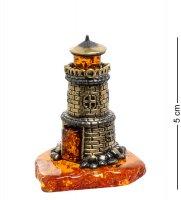 Am-1816 фигурка маяк (латунь, янтарь)