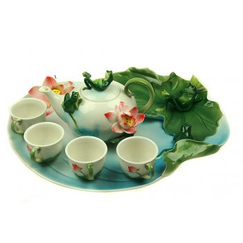 """Подарочный набор для чайной церемонии """"лягушка"""" на 4 персоны 35*"""