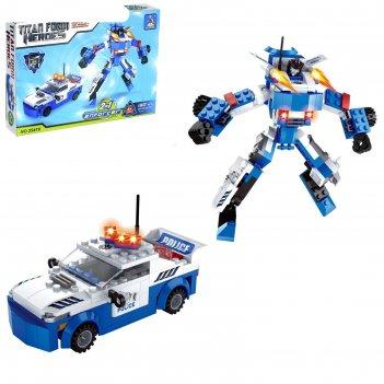 Конструктор «робот-трансформер», 2 варианта сборки, 180 деталей