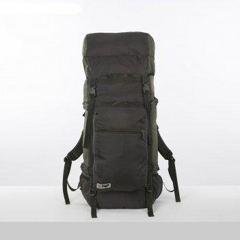 Рюкзак тур оптимал 3, 80л, отд на шнурке, н/карман, 2 бок сетки, олива