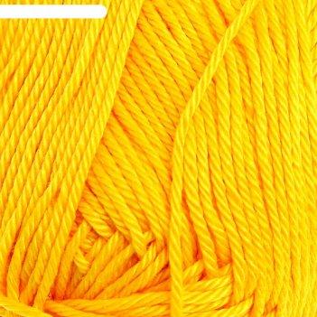 Пряжа классический хлопок (12, желток), 250 м