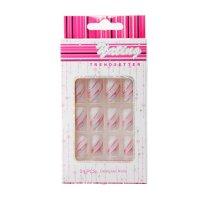 Ногти накладные розовый фламинго с клеем, 24 шт
