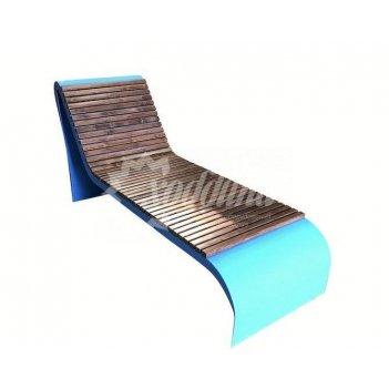 Парковый лежак «санбед»  лиственница