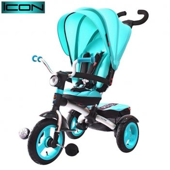 Icon 6 rt 3-х колесный алюминиевый велосипед-коляска luxe aluminium aqua