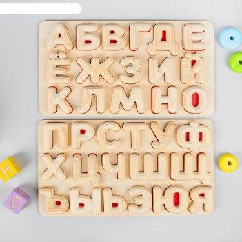 Рамка-вкладыш «алфавит», высота букв: 6 см, размер планшета: 42 x 22 см