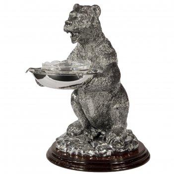 Икорница «медведь», 23x23x39 см