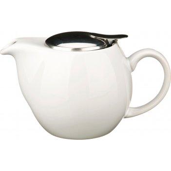 Заварочный чайник с ситом и металлической крышкой 500 мл