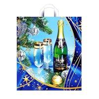 Пакет новогоднее шампанское, 43 мкм