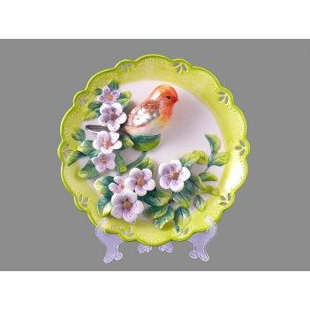 Тарелка настенная декоративная птица диаметр=20 см (кор=24шт.)