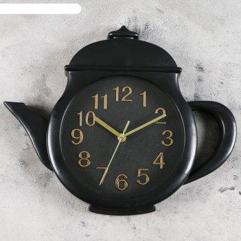 Часы настенные, серия: кухня, заварник 31х38х4 см, дискретный ход