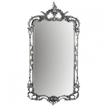 Зеркало в бронзовой оправе рэтта, бронза с покрытием  серебро