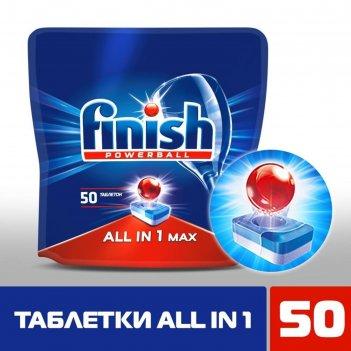 Средство для мытья посуды в посудомоечных машинах finish all in1 shine&pro