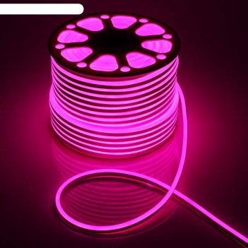 Гибкий неон 8 х 16 мм, 100 метров, led-120-smd2835, 220 v, розовый