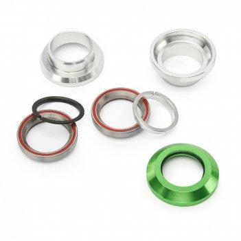 Рулевая колонка fox стандарт 1 1/8 silver/green