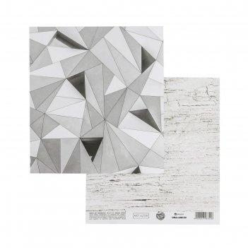Бумага для скрапбукинга «геометрия», 15.5 x 17 см, 180 г/м