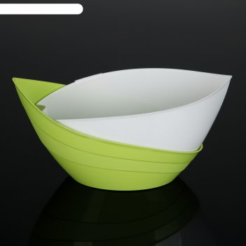 Кашпо гармония 1,5 л, цвет  фисташковый/белый