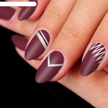 Трафареты для ногтей зиг-заги, полосы, лесенки