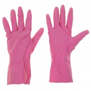 Перчатки хозяйственные с ажурным краем, размер s, цвет микс