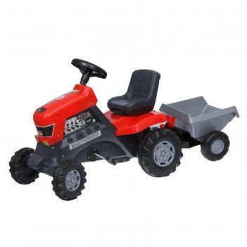 Каталка-трактор с педалями turbo с полуприцепом 52681