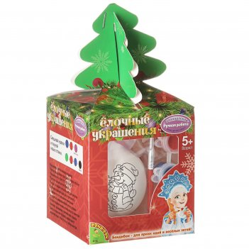 Ёлочные украшения. шар со снеговичком в подарочной упаковке с ёлочко