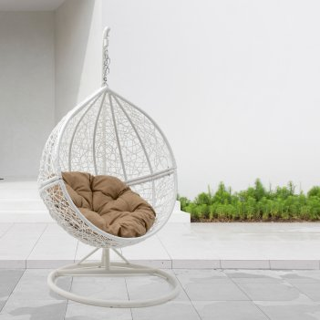 Круглые качели гнездо mi casa bola white, садовая мебель