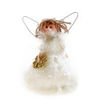 Мягкая кружево ангелок с колокольчиками 16 см