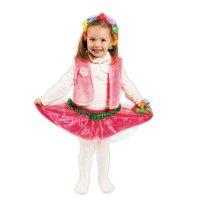 Карнавальный костюм цветочная фея 3 предмета; ободок, жилетка, юбка 3-6 ле