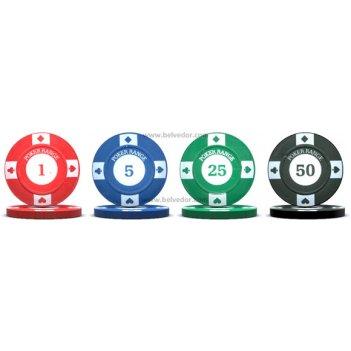 Фишки для покера любительские с номиналом chips17