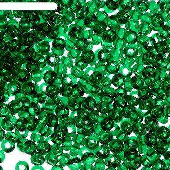Бисер gamma круглый 10/0 (в108 зелёный)