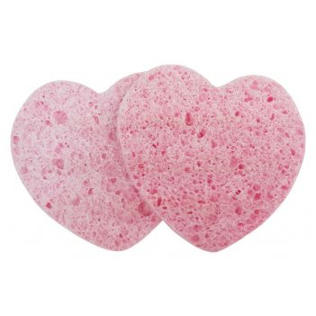 Спонж dewal beauty для снятия макияжа (сердце), 1 шт
